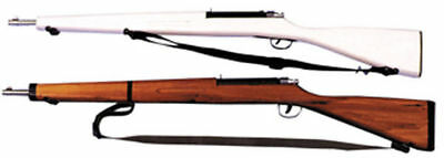 Morris Costumes Rifle Wooden Parade 42 Inches Moveable White Brown Prop. BF04BN
