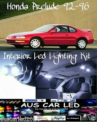 Honda Prelude 1992-1996 White LED Interior Light bulb globe festoon Kit