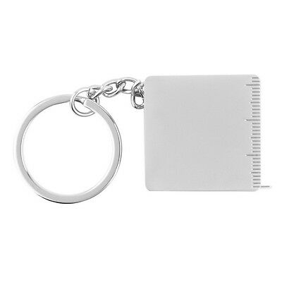 Pocket Practical Tape Measure Keychain Key Chain Ring Keyring Key Fob Holder EA