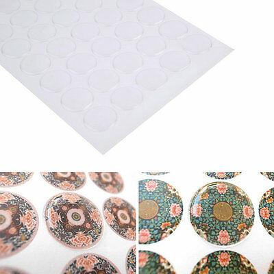 300pcs 1 inch Transparent Dome Circle Epoxy Stickers For Bottle Cap Crafts EA