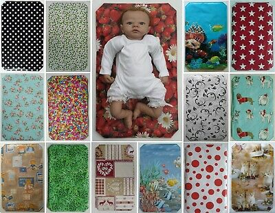 BABY TRAVEL CHANGING MAT - Choose From Selection. Wipe Clean Both Sides.