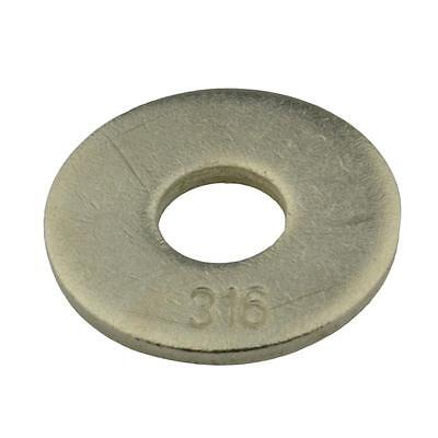 Qty 5 Mudguard Washer M8 (8mm) x 24mm x 2mm Marine Stainless 316 A4 Penny