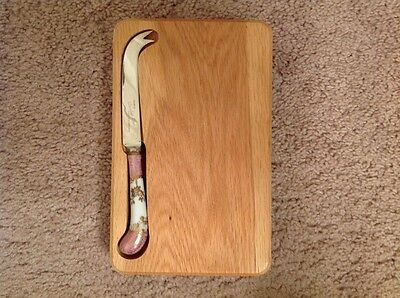 Pre-owned, cheese board with knife, made in Sheffield, England, stainless steel