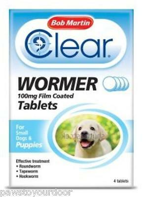 Bob Martin wormer puppies cane piccolo verme pillole 100mg vermifugo
