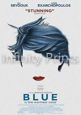 Blue is the Warmest Colour Movie Film Poster C A3 A4
