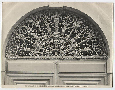 Vintage Photo, Architectural Detail, Wrought Iron Transom. Italy.