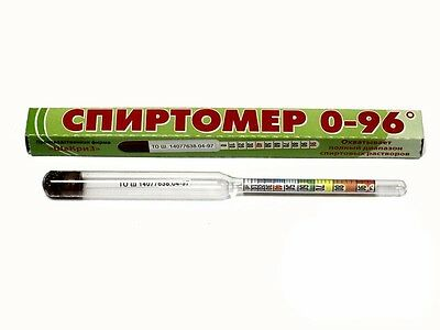 Quality Alcoholmeter Hydrometer 96% Alcohol Moonshine Test New