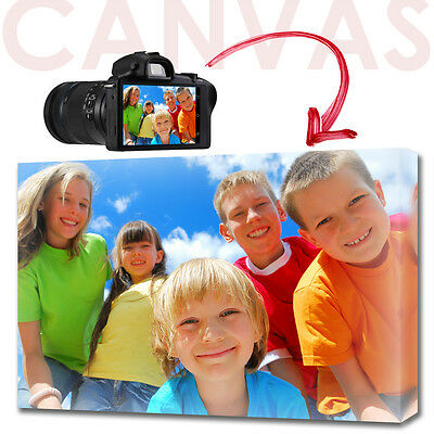"""YOUR PHOTO CANVAS PRINT personalised GIFT ready to hang - A4 - 12 x 8"""""""