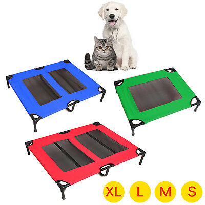 Heavy Duty Pet Dog Bed Trampoline Hammock Bed Foldable Frame Bed Cat Puppy Cover