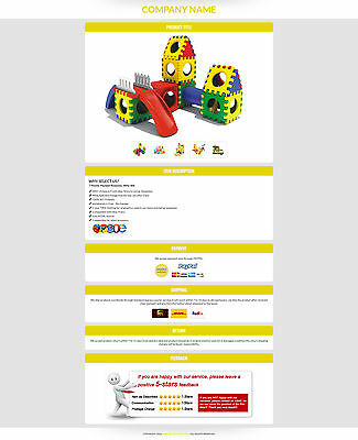 eBay Listing Templates, eBay Auction Template for Toys and Kids