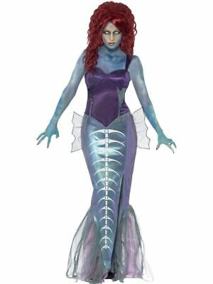 Adult Ladies Zombie Mermaid Costume Womens Halloween Party Fancy Dress Outfit