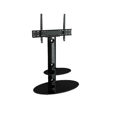 "Gloss Black TV Stand Cantilever With LCD LED TV Mount Bracket for 32 - 60"" inch"