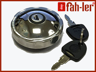 Fahler Polished STAINLESS STEEL Fuel Petrol Locking Cap For Classic Cars