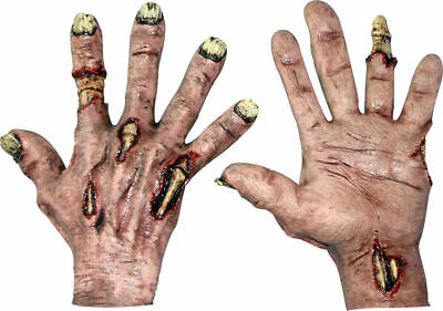 Morris Costumes Adult Unisex New Zombie Flesh Latex Hands One Size. TB25306