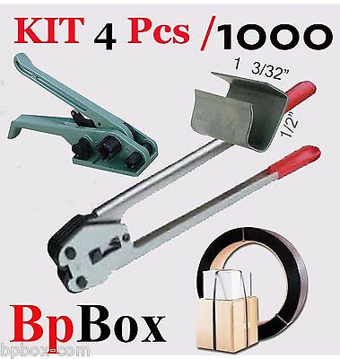 """Tensioner and Cutter 1/2"""" to 5/8"""" + Strapping Poly Crimper +1000 OP KIT4/1000"""