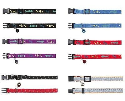 Cat Collars One Size Big Large Cats Reflective Adjustable Collar Safety Buckle