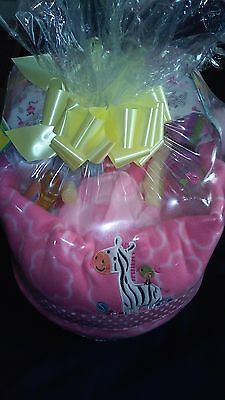 Pink Baby Girl Bassinet Diaper Cake