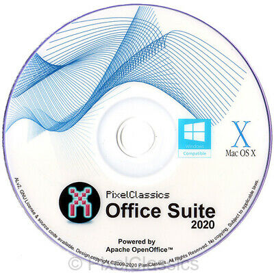 OPEN OFFICE 2019 Complete suite software word processor & speadsheet Windows PC