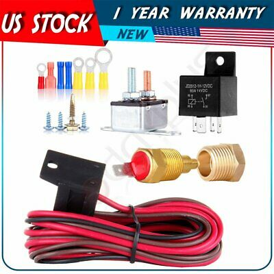 175 To 185 Degree Electric Cooling Fan Thermostat Relay Switch Wiring & Hardware