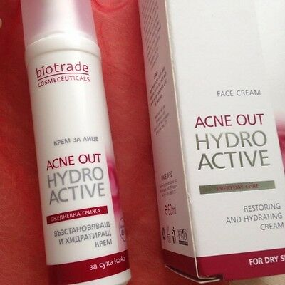 BIOTRADE ACNE OUT HYDRO Active Cream 60 ml Panthenl Blemishes Pimples Dry Skin