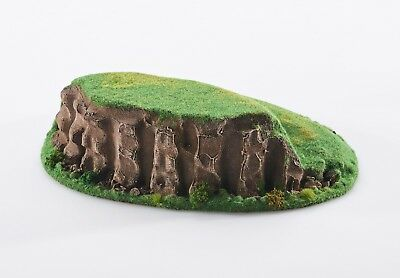 Wargame scenery - TWO-STEP HILL  - Warhammer W40K Bolt action - 28 mm painted