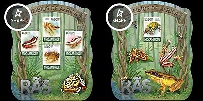 Z08 MOZ15216ab MOZAMBIQUE 2015 Frogs MNH SET