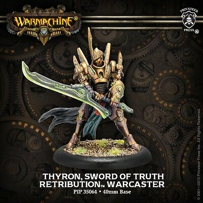 Warmachine: Retribution of Scyrah: Thyron Sword of Truth Warcaster (35064) NEW