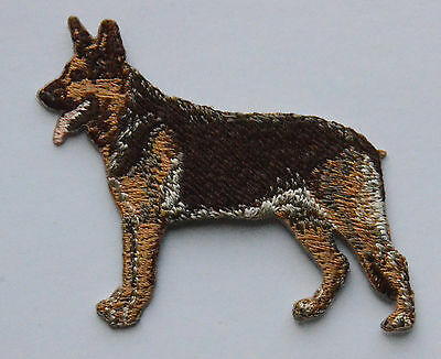German Shepherd Alsatian Embroidered Motif Iron/Sew On Patch Dog Embroidery