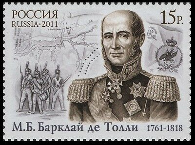 2011. Russia. Barclay de Tolly,  field-marshal-general. MNH. Stamp