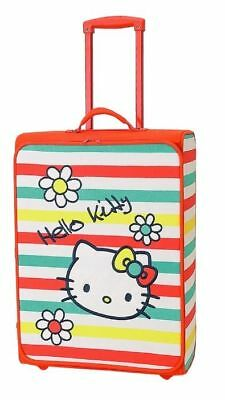 Hello Kitty 'Bright Colours' Stripe  Design Large Rolling Suitcase