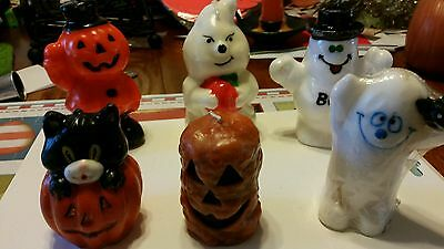 Lot  of 6 Cute halloween candles