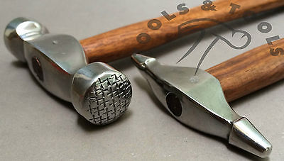 2 Pcs Jewellery Texturing Hammer Designing Forming Metal Silver Smith REPOUSSEE