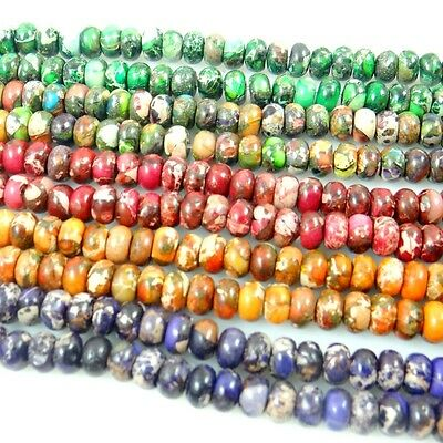 Beautiful A Strand Sea Sediment Jasper Round 4*6mm Loose Bead 15.5 inch AA8