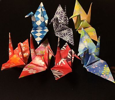 ORIGAMI CRANES of the product made in Washi Paper 7 pattern of Kimono