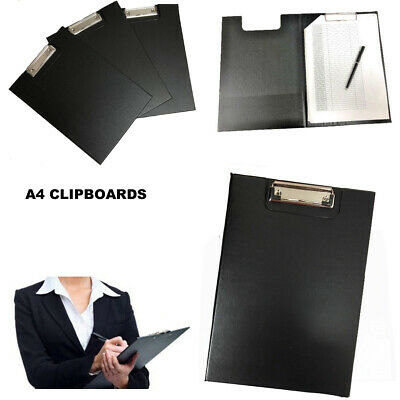 A4 Clipboard Board Clip File Folder Writing Pad Fold Office Holder Hard Support