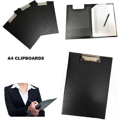 A4 Clipboard Document Holder Fold Over Clip Board Writing Pad Solid Filing Ofice