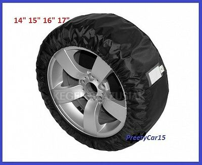 "Protective Cover For Spare Wheel  And Tyres 14"" 15"" 16"" 17"" - L"