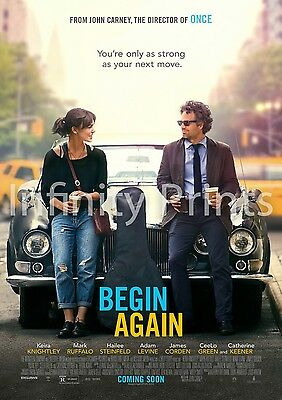 Begin Again Movie Film Poster A2 A3 A4