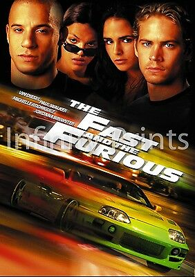 The Fast and Furious Movie Film Poster A2 A3 A4