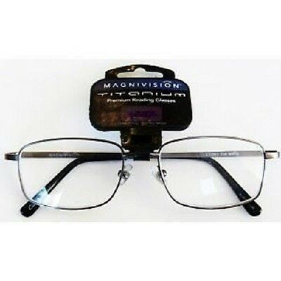 a9485e417489 (3 PACK) Foster Grant Magnivision Titanium Reading Glasses (T10) Choose  Strength