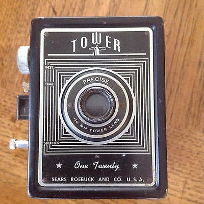 Vintage 1950's Tower One Twenty Camera by Sears Roebuck and Co.