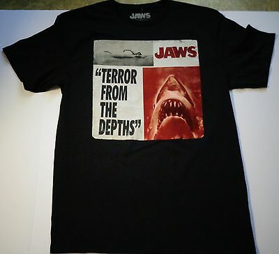 JAWS Terror from Depths T-Shirt by Universal Studios (Size M) (New) Black Color