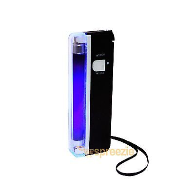 Portable Handheld UV Light Torch Blacklight Counterfeit Bill Money Detector 2in1