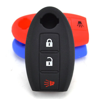 For Nissan Tiida Qashqai Juke Leaf Pathfinder 370Z Silicone Key Remote Cover Fob