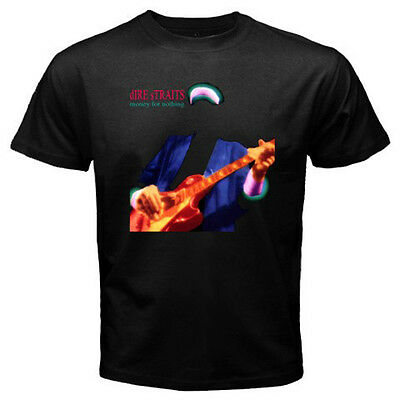 New Dire Straits *Money For Nothing Rock Legend Men's Black T-Shirt Size S-3XL