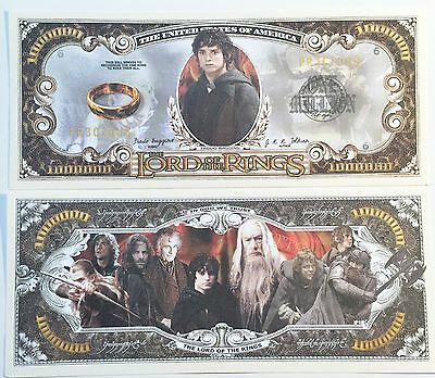 RARE: LORD OF THE RINGS $1,000,000 N/Note, Movie/Film Series Buy 5 Get one FREE
