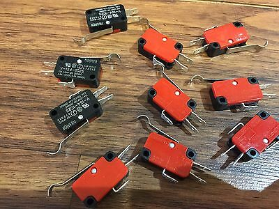 10 Pieces Omron Micro Limit Switch with Lever 15A 125/250VAC c16