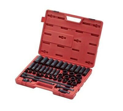 "Sunex 1/2"" dr 43pc Metric Master Impact Socket Set w/Extensions 9-30MM #2569"