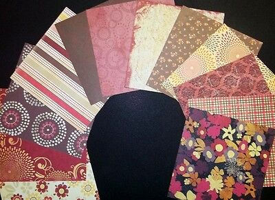 "*LUXE* Colorbok Designer Scrapbooking/Cardmaking Papers  x 12 *15cmx15cm(6""X6"")"