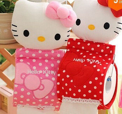 New HelloKitty Home & Bathroom Tissue Bag Case Box Container Roll Paper lyo-552